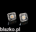 Classic Blazk Square Earrings