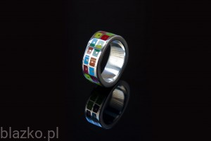 Wave 2-Rows Ring Colour