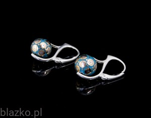 English Porcelains Pellets Earrings  (1)