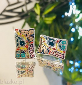 DolceVita Rectangles Studs - Colour