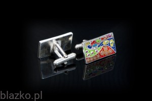 Dolce Vita Colour Rectangles Cufflinks
