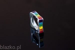 Squared Wave Ring Colour