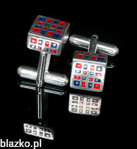 Cufflinks - Small Cubes Colour