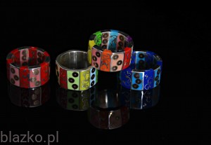 3-Rows 2-Sided Blazk Ring