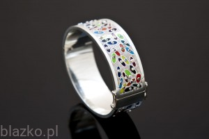 Oval Spotty Bracelet - White