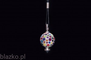Dotted Ball 25' Pendant with Crystal Colour