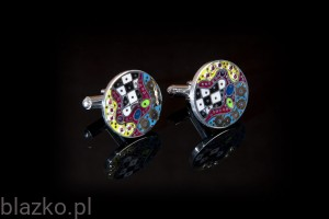 Dolce Vita Rounded Colour Cufflinks