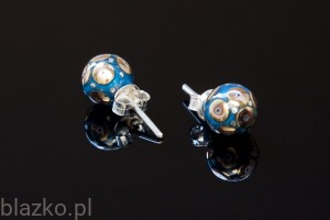 Colour Porcelain Pin-Pellet Earrings